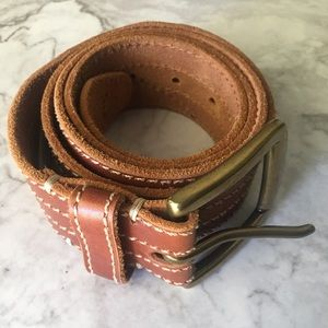 Lucky Brand Brown Leather Distressed Belt